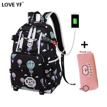 цена на Girl backpack high quality nylon backpacks Campus student laptop school bags Black and white cute backpacks for college girls