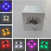 1pcs LED Square Sconce Lamp Wall Light Decor Fixture Porch Walkway Bedroom Holiday 3W
