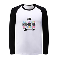 Your Attitude Determines Your Direction Fitness Long Sleeve T Shirt Men Boy Women Girl Cotton T