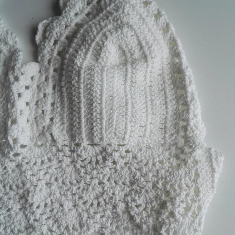 white crochet halter top