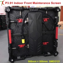 Front mainterance P3.91 indoor 500*500mm magnets fixed die-casting aluminum equipment cabinet screen rental display