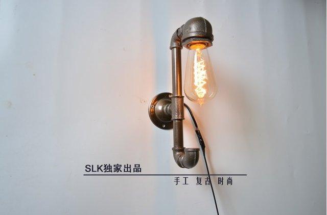 Industrielle tuyau en métal vintage mur lampe rétro mur applique