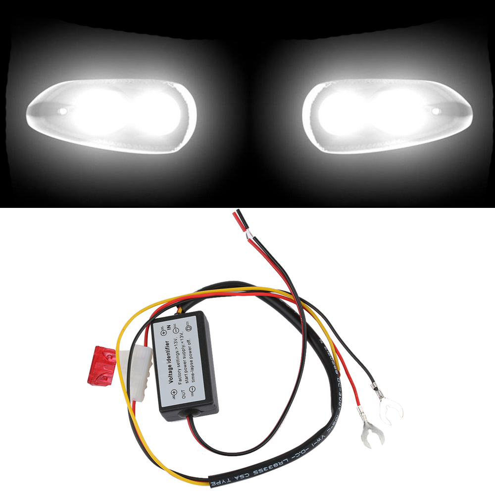 Universal Car Drl Controller Daytime Running Light Auto Led Relay Lights Wiring Kit Harness Dimmer On Off 12 18v 5a