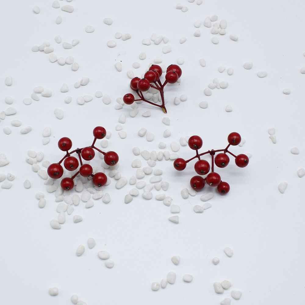 Haute qualité chaud faux fruits petites baies étamines fleurs artificielles multicolore perles cerise mariage décoration de noël