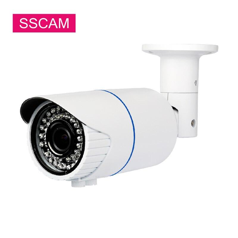 Caméra de Surveillance de balle IP varifocale 4MP infrarouge extérieur 2.8-12mm caméra de réseau de sécurité de rue à domicile varifocale ONVIF