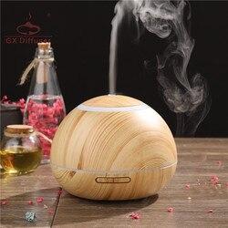GX. Dyfuzor 300ML nowy zegar nawilżacz powietrza ultradźwiękowy dyfuzor zapachowy olejku aromaterapeutycznego dyfuzor Mist Maker oczyszczacz powietrza w Nawilżacze powietrza od AGD na