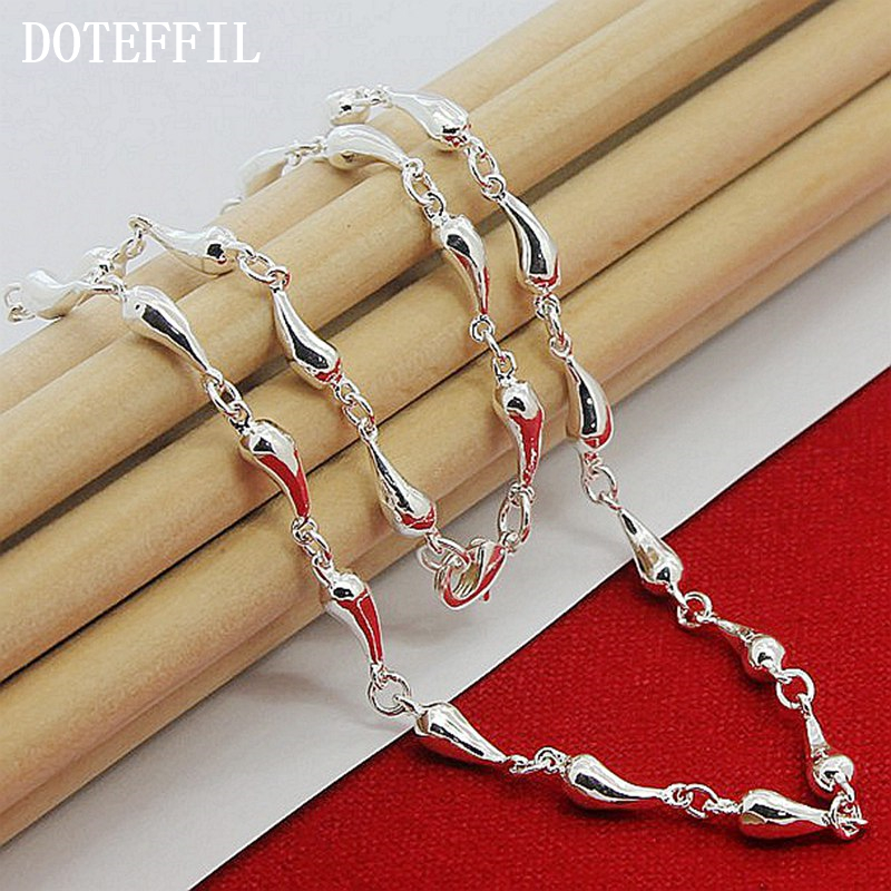 Luxury Brand 925 Sterling Silver Water Drop Necklac