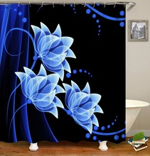 Flower series Print Waterproof Shower Curtain Polyester Fabric Bath Curtain Home Bathroom Curtains with 12 Hooks Shower Curtains