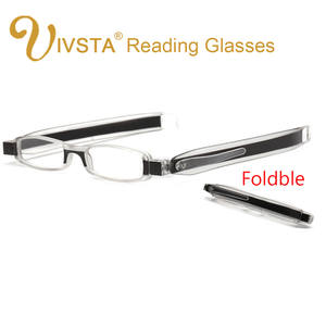 a38b26c73b IVSTA 2018 Foldable Reading Glasses Plastic Frame Hyperopia