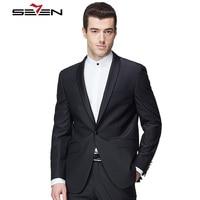 Seven7 высокого качества на заказ мужские черный пиджак для свадьбы жениха Мужские Винтажные классический пиджак индивидуальные формальные п