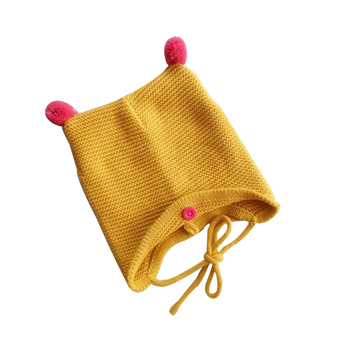 Baby Toddler Infant Autumn Winter Warm Wool Knitted Hats Comfortable Cute Cap