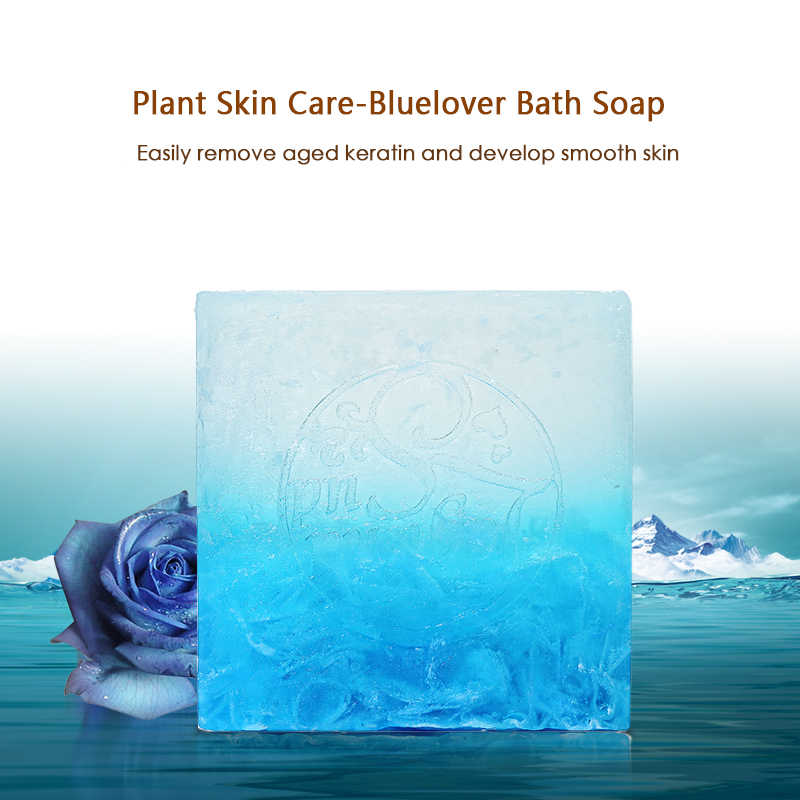 สีฟ้า Handmade สบู่ 100g ธรรมชาติไม่ระคายเคืองน้ำมันหอมระเหยสบู่สบู่น้ำมันทำความสะอาดลึกสิวควบคุม