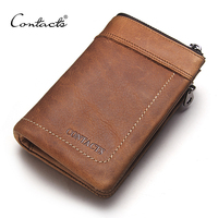 2015 New Fashion And Casual Men S Retro Wallets Short Design Multi Function Purse Genuine Leather
