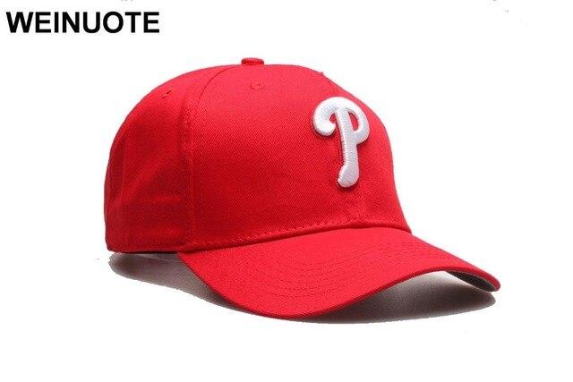 8f1840bd9be8d Men s Philadelphia Phillies Adjustable Strapback Hats Sport classic Fashion  Baseball Red Caps P Letter Logo Hat For Women