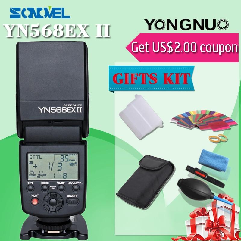 Galleria fotografica Yongnuo YN-568EX II pour <font><b>Canon</b></font>, YN 568Ex HSS Flash Speedlite YN 568 5 Dmarek III 5 5dmarkii 5D 7D 60D 50D 600D 550D 500D 450D 400D