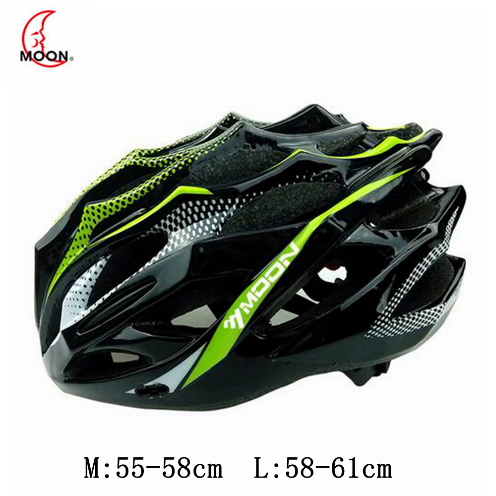 Moon 2017 Cycling Helmet Road Cycling MTB Bicycle Helmet Anti-collision Ultralight Integrally-molded Bike Helmet Casco Ciclismo moon ultralight mtb road bicycle cycling pc eps helmet riding bike integrally molded sport climbing head protect bicycle