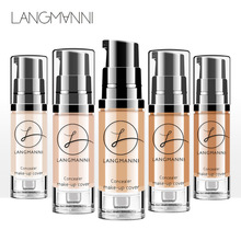 Langmanni Full Cover Concealer Bright Cream Lasting Contour Make Up Face Powder Waterproof Whitening Foundation