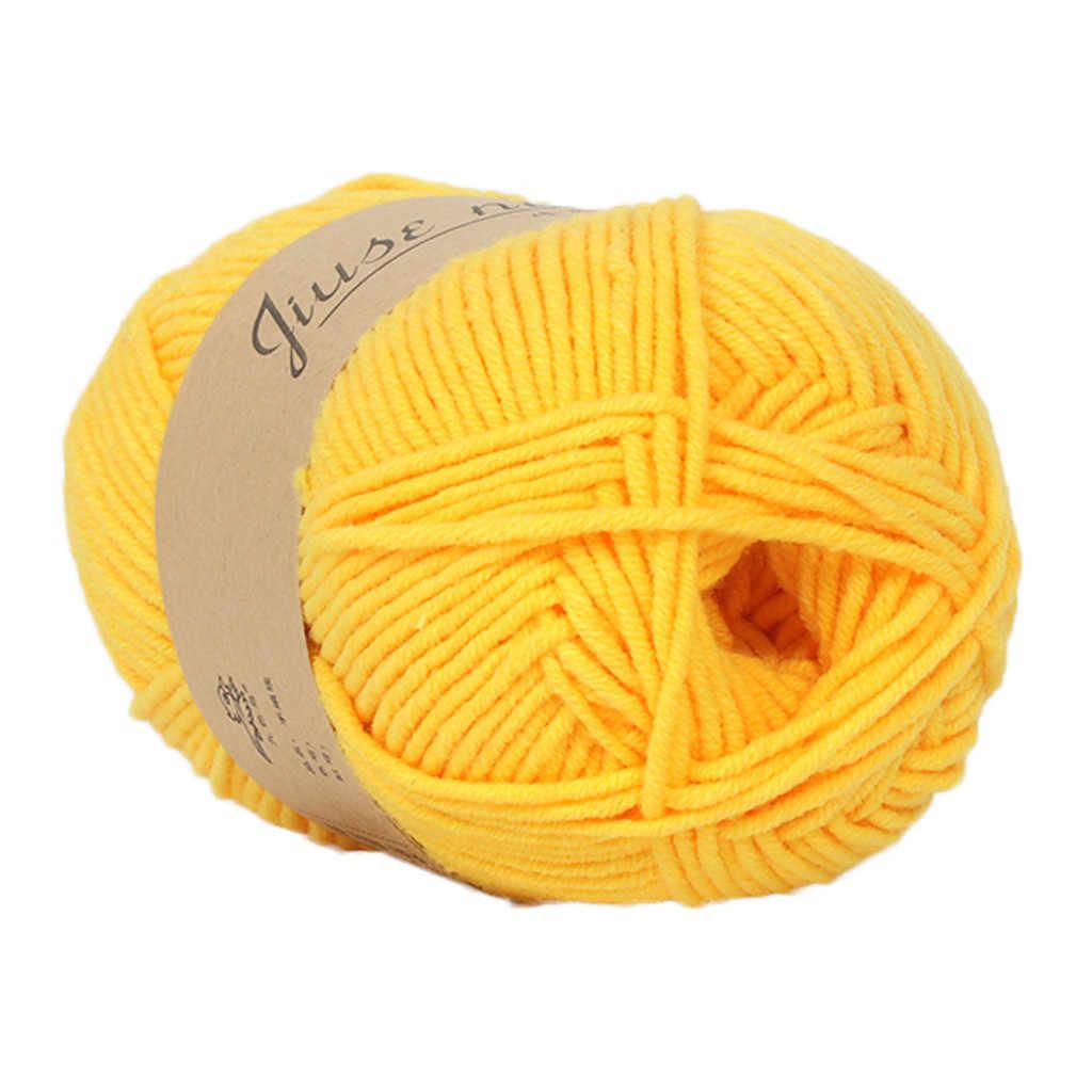 Hot koop 1PC 50g haak garen Chunky Kleurrijke Hand Breien Baby Melk Katoen Gehaakte Truien Wollen merino breien wol garen
