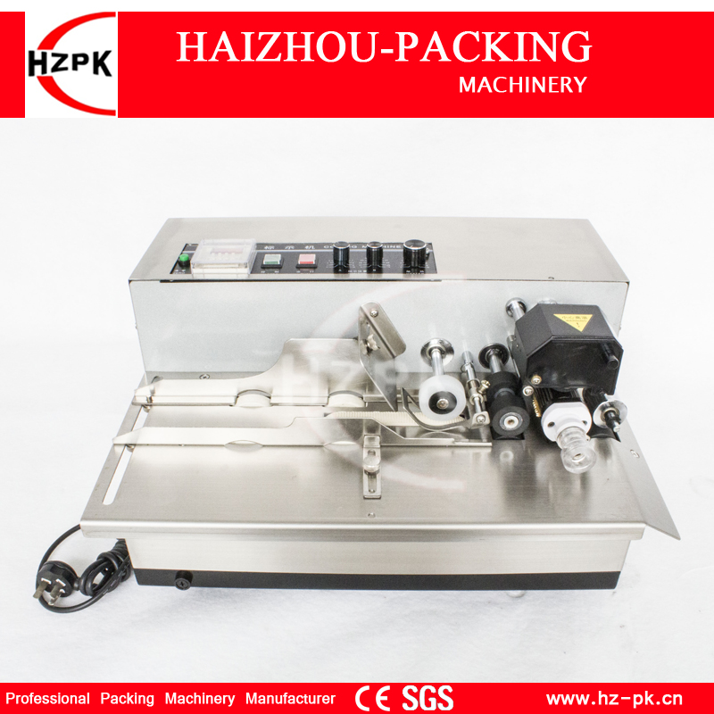 HZPK Table Coding Machine Solid Ink Roller Code Printer Machine Stainless Steel Shell Label Produce Printing Machine MY-380F zonesun my 380 ink roll coding machine card printer produce date printing machine solid ink code printer painting type 220v
