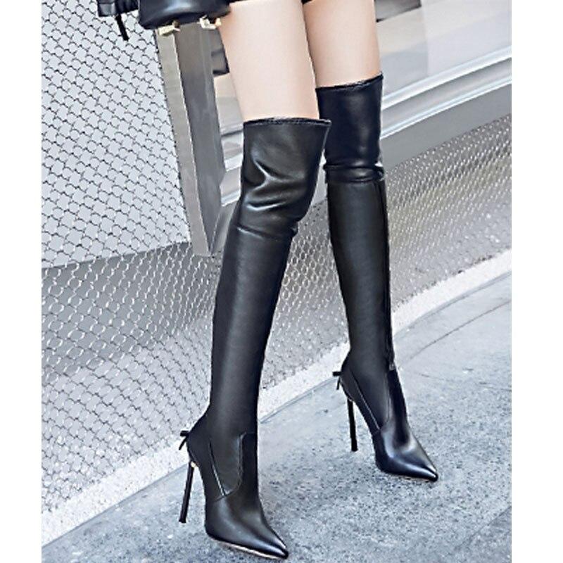 À Marque Chaussures Bout Papillon Noir Talon Mariage Carollabelly Sexyshoes Cm Cm Talons 12 De 10 Femmes Bottes D'hiver Pointu Chaud Cm 12 Hauts WxQBrCdoe