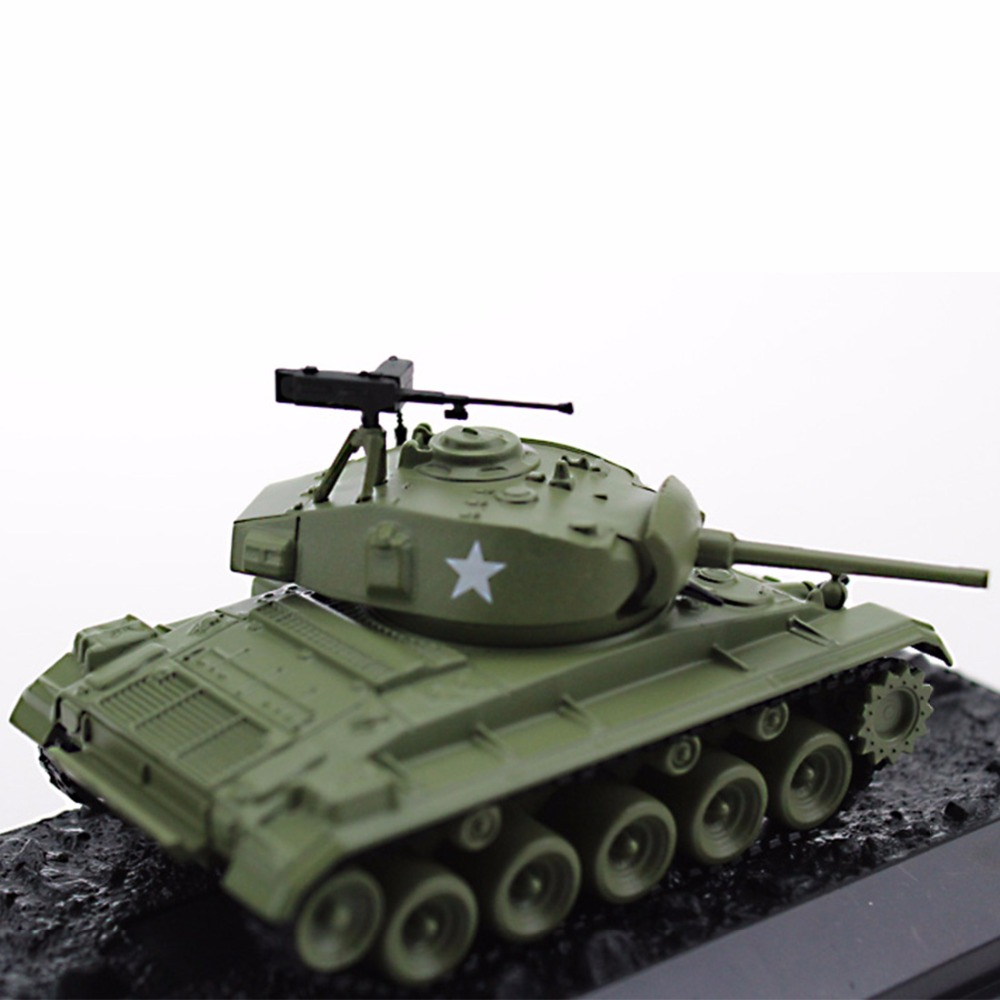 Diecast Military Tanks Models 1:72 Scale USA Army M24