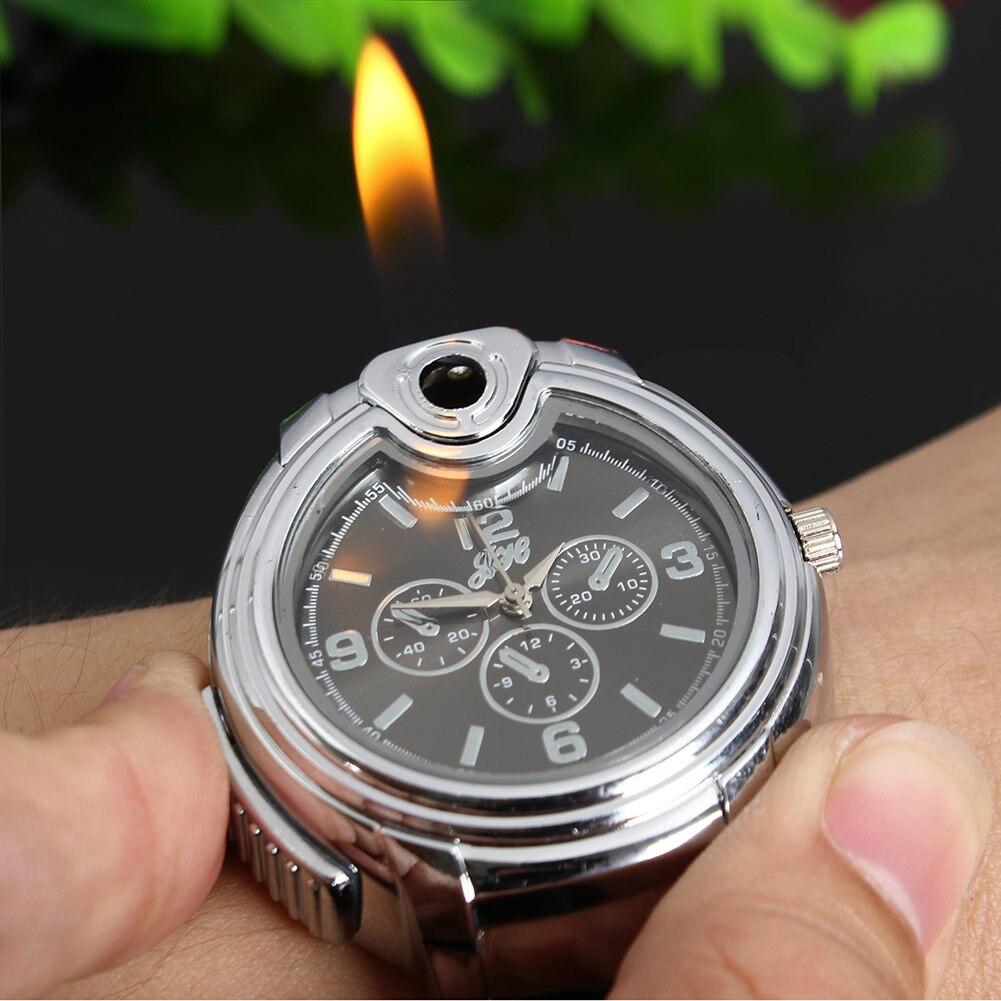 Hommes Montre-Bracelet briquet édition limitée Silicone cadran dual time sport montres homme horloge à quartz horloge mode montres légers