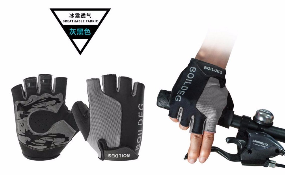 BOODUN Half Finger Touch Screen Cycling Gloves Road MTB Mountain Bike Gloves Bicycle Outdoor Sport Gel Pad Gloves Breathable