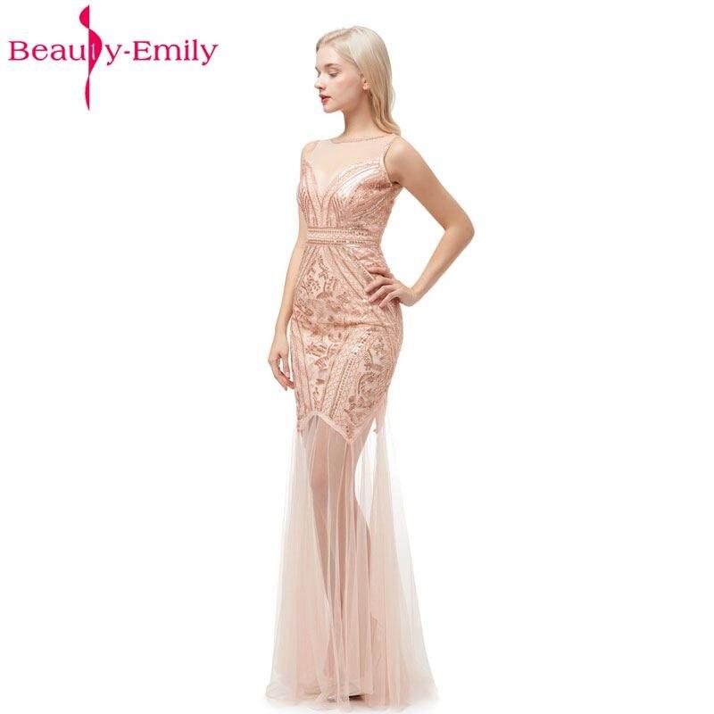 Купить женское вечернее платье с блестками beauty emily длинное официальное