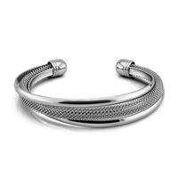 European and American fashion silver bracelet.Contracted mesh bracelet.Solid 925 silver bracelet. Woman.Charming lady jewelry