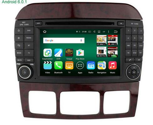 otojeta quad core android 7.1.1 car dvd player fit for Benz S Class W220 S280 S420 S430 S320 S350 S400 S500 S600 radio stereo