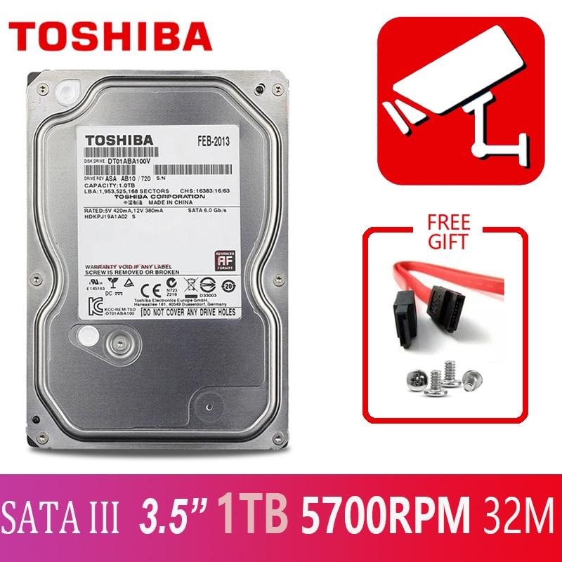 TOSHIBA DVR NVR CCTV 1TB Hard Drive Disk 1000GB HDD HD Internal SATA 3 5700RPM 32M