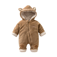 Winter Thicken   Baby     Rompers   2018 New Children Kids Hooded Long Sleeve Cute Bear Jumpsuit   Baby   Product Cotton Newborn   Baby     Romper