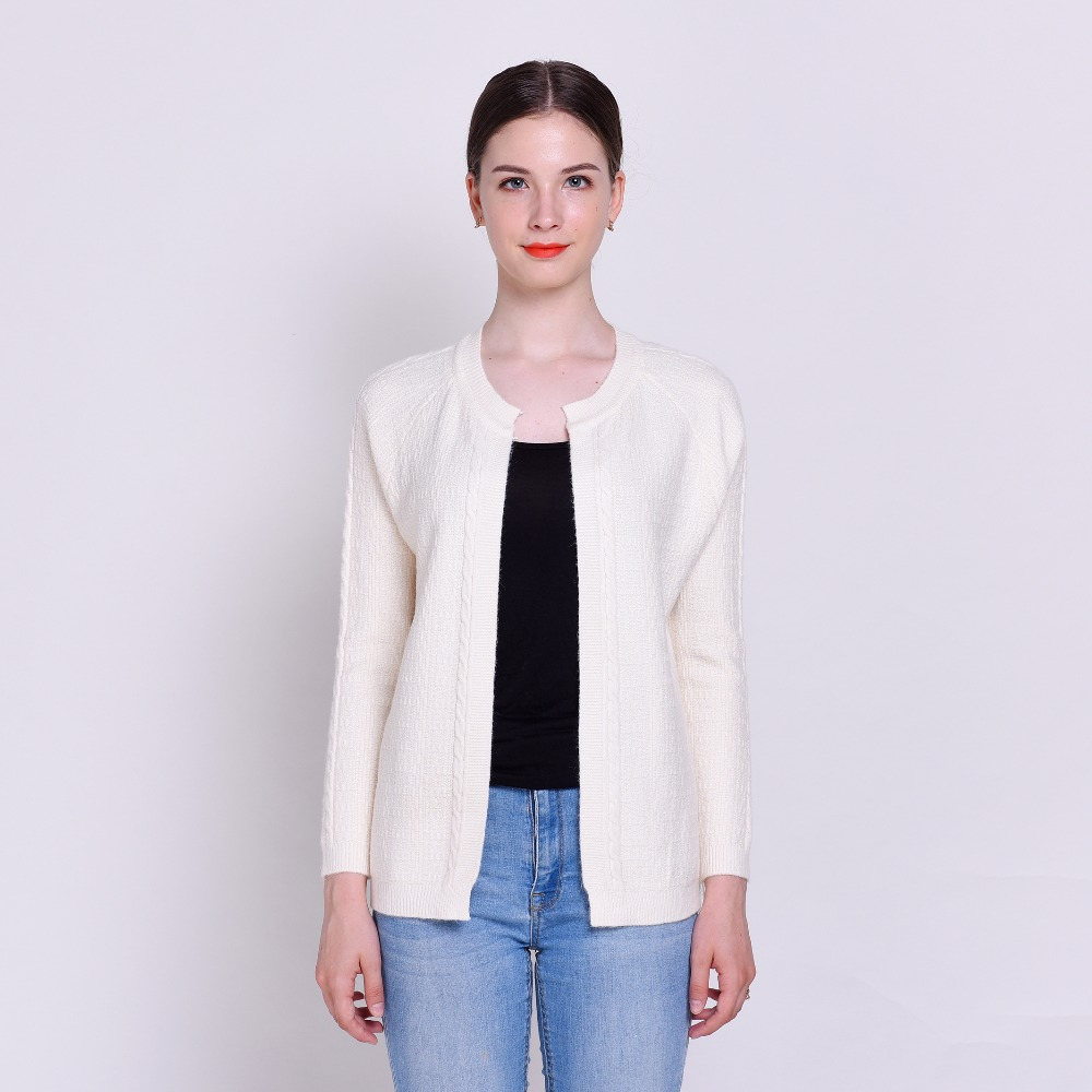 HSPL Short Cardigan Women Hand knitted Cheap Autumn White Female ...