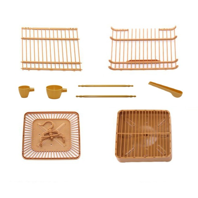 Assembly Bird Cage With Feeder And Waterer Small Pet Bird Full Set Of Plastic Bird House Thrush Parrot Cage 23x23x22cm 2