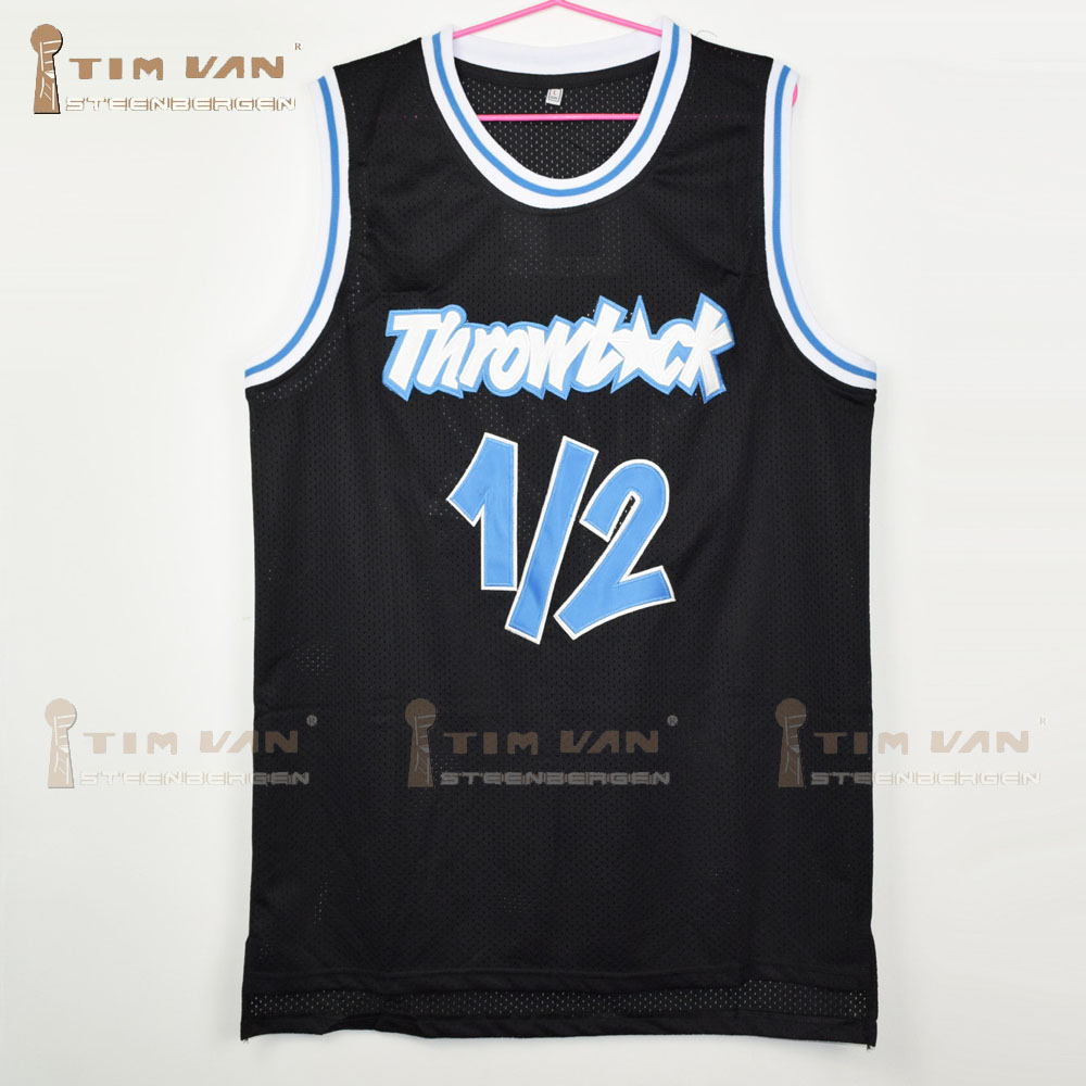separation shoes ec995 89532 TIM VAN STEENBERGEB Anfernee Penny Lil Penny 1/2 Throwback Black Basketball  Jersey All Stitched All Sewn-Red