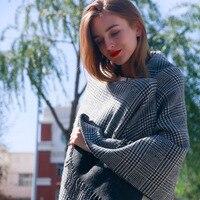 TERNENCE New Design Warm Soft Plaid Women Scarves Fashion Brand High Quality Scarf Wrap Shawl Free
