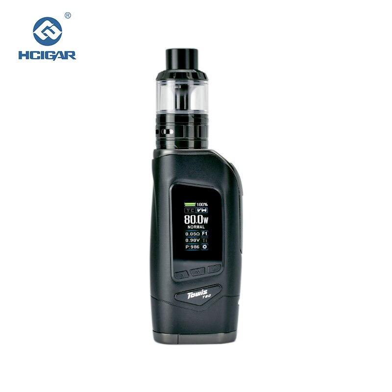 D'origine HCIGAR Towis T80 vaporisateur Kit Sortie 5-80 w WATT et TEMP mode Vaporisateur cigarettes Électroniques Mod avec Aeolus RTA atomiseur
