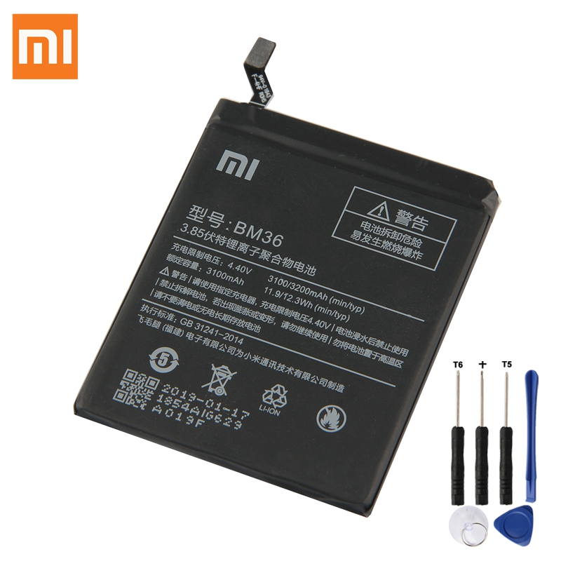 Xiaomi Battery-Bm36 Replacement MI5S Original 3200mah for 100%New Authentic