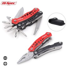 HI-Spec Multitool Pliers Outdoor Pocket Knife Screwdriver Set Folding Multi Tool Portable Pliers Hand Tools With Pouch rdeer multifunction cutting pliers multitool diy outdoor stainless steel folding with knife screwdriver hand tools