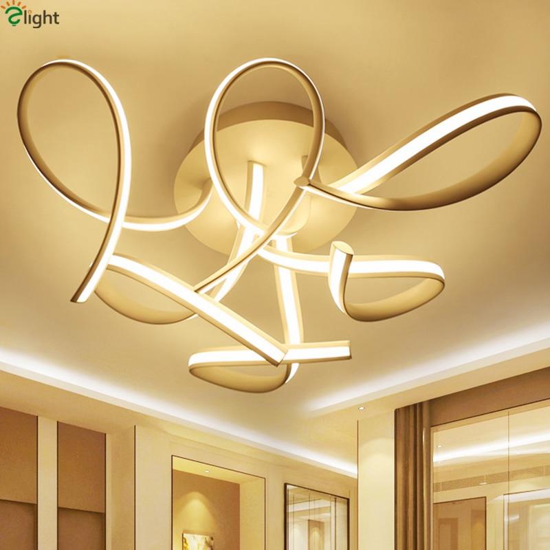 buy modern curved aluminium led chandelier lighting lustre acrylic dimmable led. Black Bedroom Furniture Sets. Home Design Ideas