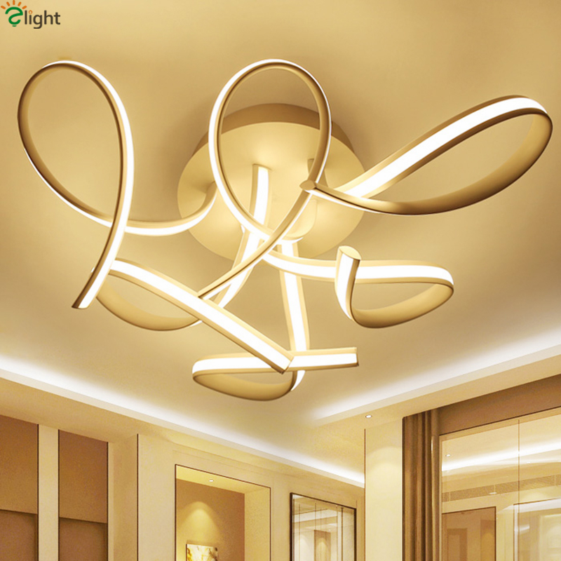 Ceiling Led Lights For Showroom : Aliexpress buy novelty modern unique curved