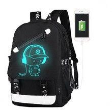 Jungen Schulrucksack Student Leucht Rucksack Animation Usb-ladegerät Schultasche Für Teenager Computer Tasche Zurück Zu Schule BagPack