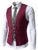 2017 Latest Coat Pant Designs Red Men S Vest Formal Slim Fit High Quality Suit Fashion