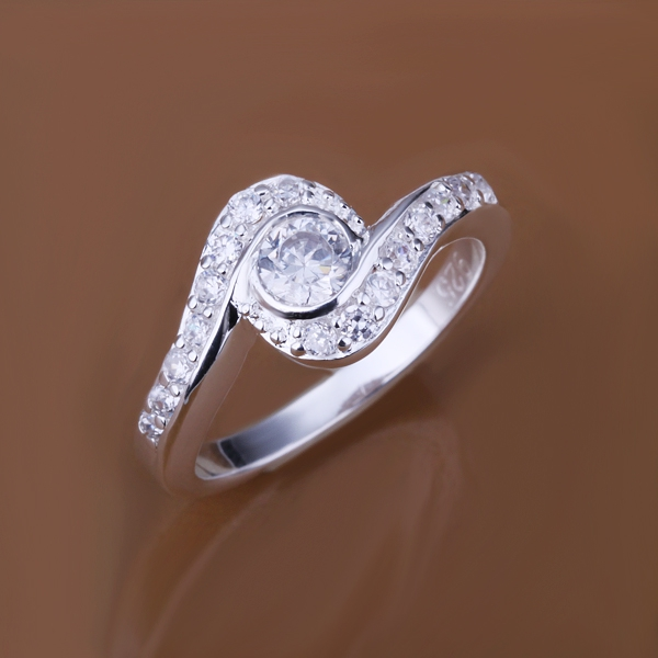 WomenS White Gold Wedding Rings Twisted Engagement Rings With