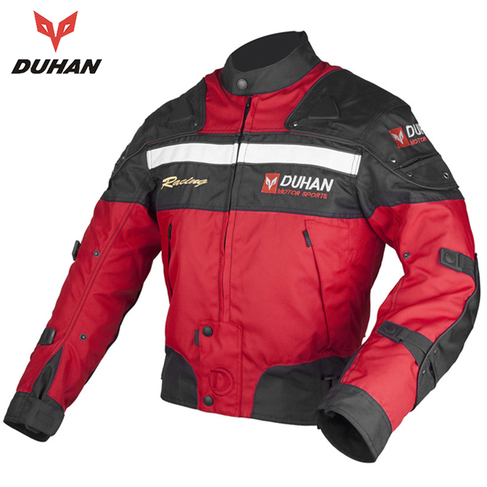 ФОТО DUHAN Winter Motorcycle Off-road Racing Jacket Windproof Motorcycle Protective Riding Jacket Motorcycle Body Protector
