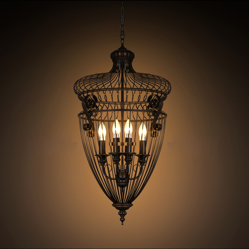 American iron cage loft retro style Cafe 1st Industrial staircase candle  package mail Pendant Lights lo81213 shanghai chun shu chunz chun leveled kp1000a 1600v convex plate scr thyristors package mail