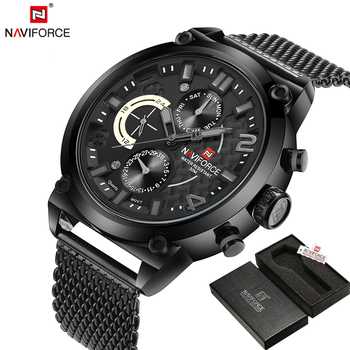 Luxury Brand Stainless Steel Quartz Watch Men Calendar Clock Sports Military