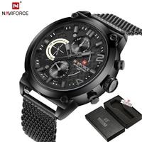 NAVIFORCE Luxury Brand Full Steel Men Watches Men S Quartz 24 Hour Date Clock Male Sport