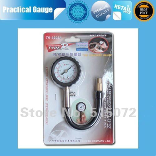 Free shipping~~The high-precision automotive tire gauge car tire pressure gauge tire pressure table