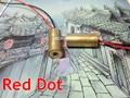 NEW 650nm 5 mW Red Line Módulo Laser Foco Ajustável Cabeça Do Laser 3 V red dot 9mm